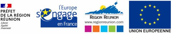 logo prefet de la reunion, l'europe s'engage, region reunion, union européenne